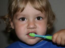 Das Leuchten von Zahnbelagsproben zeigt Mundhygiene und Kariesgefahr an.